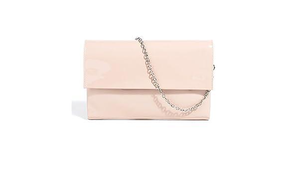 1c2a960aa4c6d Parfois - Festliche Taschen Umschlag Lack Nude - Damen - Größe M - Nude   Amazon.de  Schuhe   Handtaschen