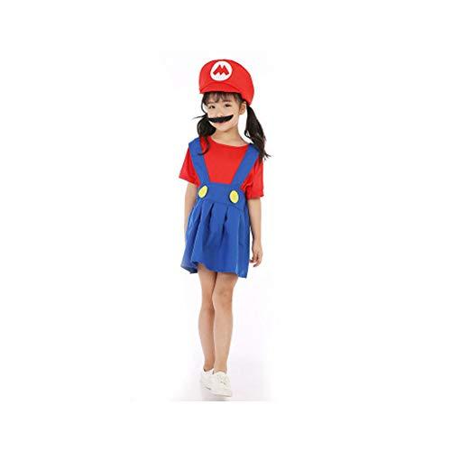 kakafashion Halloweenkostüm für Jungen und Mädchen, Super Mario, -