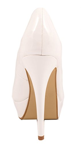 Elara Plate-Forme Pompes | Hauts Talons de Femmes Modernes | Chaussures Stile Blanc
