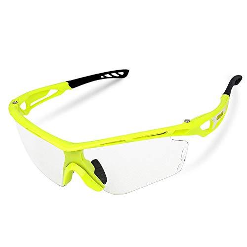 ZKAMUYLC SonnenbrilleUnisex-Reitbrille Winddicht Photochromic Brille Outdoor Sports Laufbrillen Fahrradausrüstung