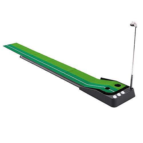 V.JUST Indoor 3M Golf Putting Trainer Schaukeltrainer Mit Doppellöchern Gravity Ball Return Alignment Indicator Für Anfänger