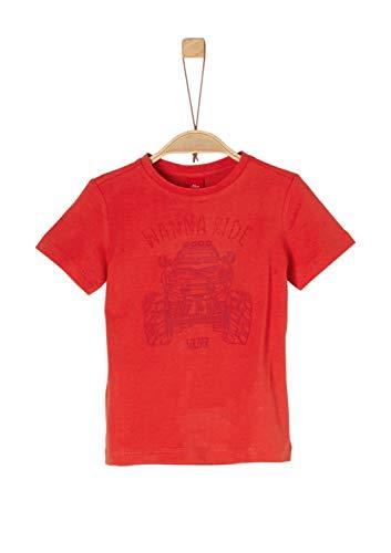 s.Oliver Junior Jungen 74.899.32.0522 T-Shirt, Orange 2610, 92 (Herstellergröße: 92/98)