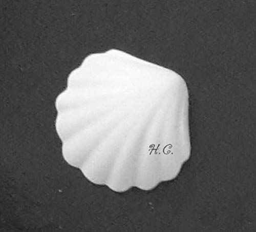 Hc 24 gessetti a forma di conchiglia bomboniera compleanno, segnaposto, chiudipacco, comunione, cresima, confettat, natale, san valentino - chalk heart shape, white