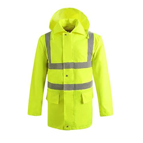 Warnweste Warnschutzkleidung Warnschutzweste Verkehrssicherheit Warnschutzkleidung Hygiene Arbeitskleidung Wasserdicht Reflektierendem (Color : Green, Größe : XXXL)
