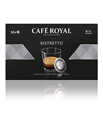 Café Royal Ristretto 50 Nespresso Pro kompatible Kapseln (Intensität 9/10) 1er Pack (1 x 50 Pads)