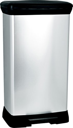 Curver Pedal Bin 50L, Metall, 37 x 27 x 70 cm, 187152