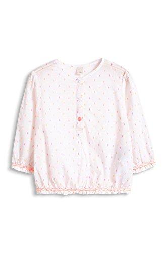 ESPRIT Baby - Mädchen Bluse Fancy Blouse, Gr. 68, Weiß (WHITE 100)