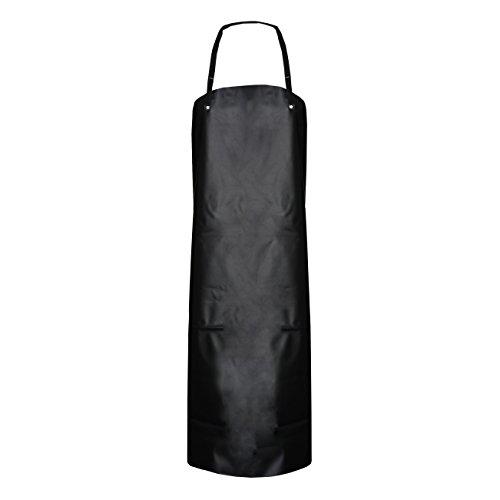 Preisvergleich Produktbild ASATEX Gunova-Säureschutzschürzen GS4S,  schwarz,  ca. 80 cm x 100 cm (10 Stück)