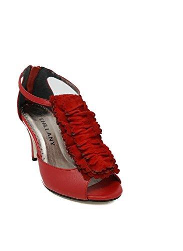 Edle Sandalette von Chillany aus Leder in Rot Rot