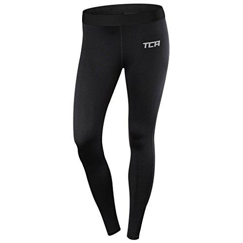 TCA Pro Performance Endurance - Damen Laufhose / Leggings - Black/Black - S (Blau-volleyball-decke)