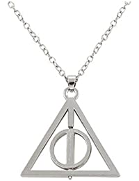 Accessorisingg Harry Potter Inspired Deathly Hallows Silver Alloy Pendant For Unisex [PD003]