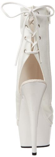 Pleaser Delight 1018, Polacchine Donna Bianco (White (Wht Faux Leather/Wht))