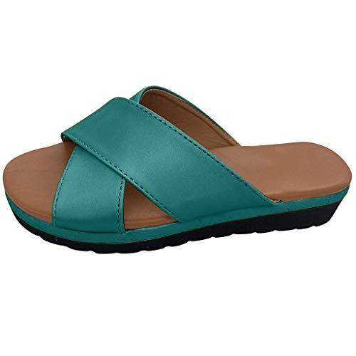 Beach Womens Schuhe (2019 neueste Frauen Sandalen für Frauen Schuhe liusdh,Womens Fashion Wedges Shoes Open Toe Thick Bottom Roman Slippers Beach Sandals(SL,35))