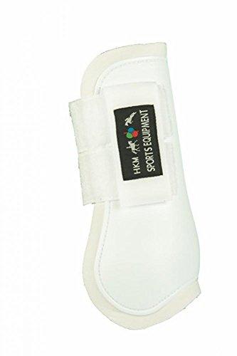 HKM 561144 Springgamaschen Softopren für Vorderbeine, Pony, weiß/weiß
