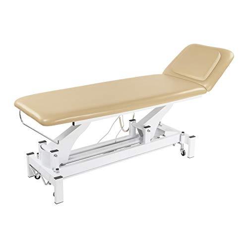 Preisvergleich Produktbild Physa RELAXO Massageliege Kosmetikliege Behandlungsliege (elektrisch,  44-90 cm,  2 Zonen,  Gesichtsöffnung,  inkl. Fernbedienung und Fußpedal) Beige