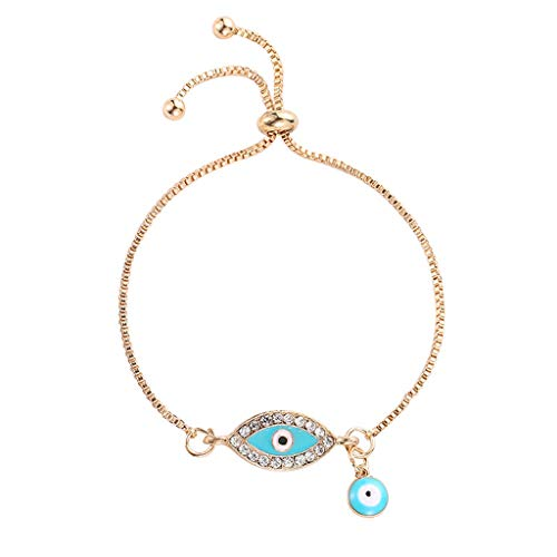 501bbace8e SimpleLife Evil Eye Pulsera Brazalete de Oro Rosa para el Ojo Malvado,  Turco Lucky Blue