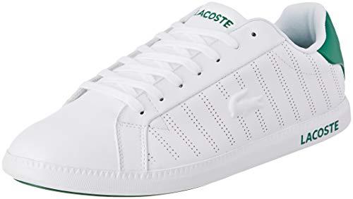 Lacoste Graduate 318 1 SPM, Baskets Hommes, Blanc (White/Green 082), 41 EU