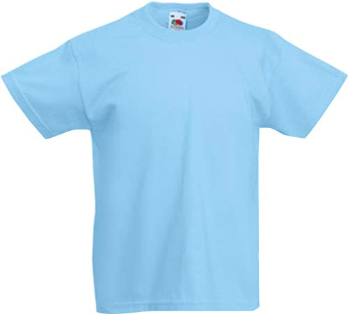 ShirtInStyle Kinder-Shirt Basic UNI Fruit of the Loom, Farbe Hellblau, Größe 116