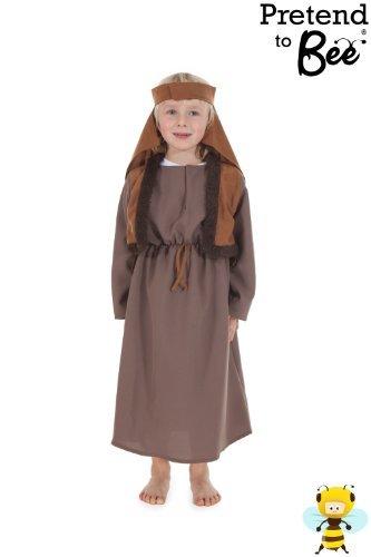 Boys Girls Childrens Kids Arab Man Shepherd Inn Keeper Nativity Fancy Dress Costume 5-7 Years