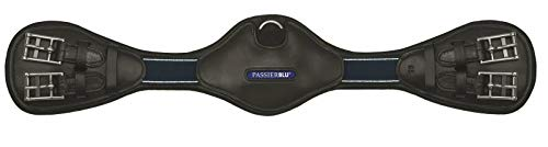 Passier Blue Wave Sattelgurt schwarz Leder mit Ellenbogenausschnitt D-Ring , Sattelgurt Länge:60cm