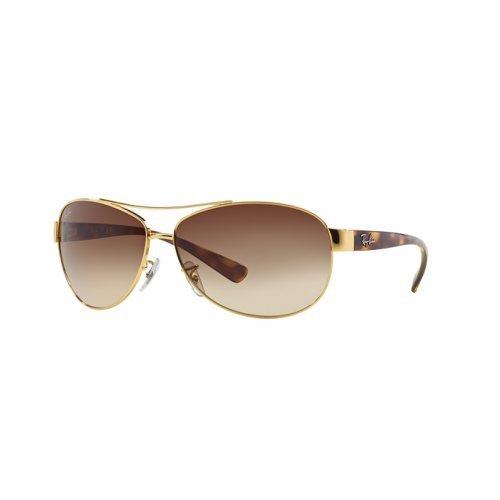 Ray-Ban Aviator Sonnenbrille In Gold Arista Braun Farbverlauf Rb3386