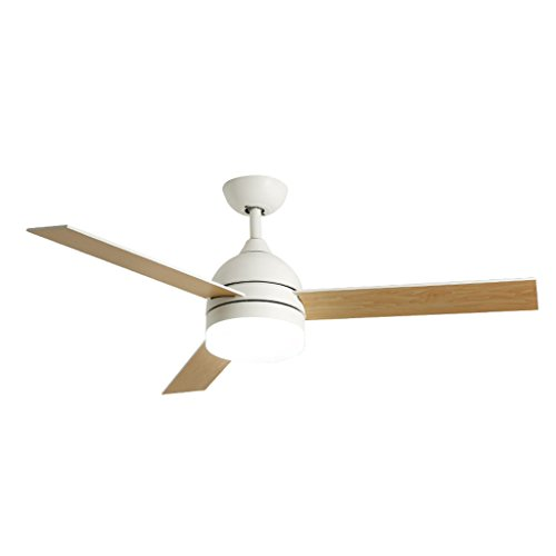 Gydd lampadario plafoniera nordic retro inverter ventilatore a soffitto illuminazione per soggiorno/camera da letto/studio/ingresso (colore : bianca-l.)