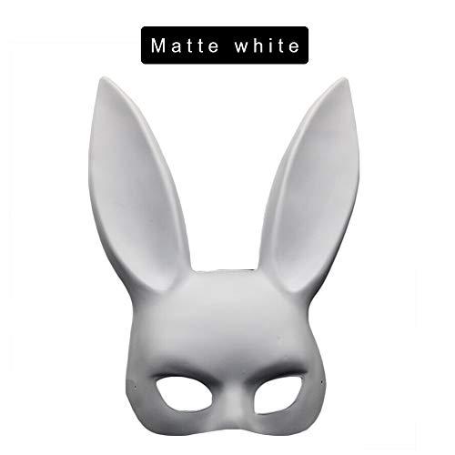 Halloween Mask Bunny Halbmaske Maskerade Bunny Ohrenschützer Bekleidungszubehör Geburtstagsparty Ostern Halloween Party Kostüm Cosplay Nightclub - Süßeste Sexy Kostüm