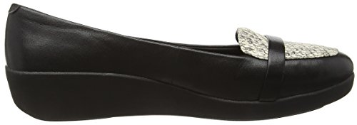 FitFlop F Pop Tm Loafer, Mocassini Donna Multicolore (Black Lizard)