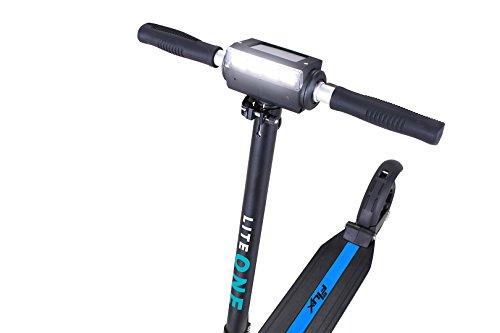 eFlux Elektroroller Scooter - 500 Watt Motor - Bis 30 km/h - 30 Km Reichweite - Nur 10,8 Kg leicht - Klappbar - E-Scooter (Lite One Schwarz Gelb)