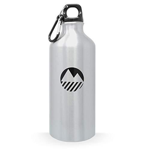 Lakeland Active Thirlmere-Wasser-Flasche mit Sportverschluss, silber, 600 ml Lakeland Cap