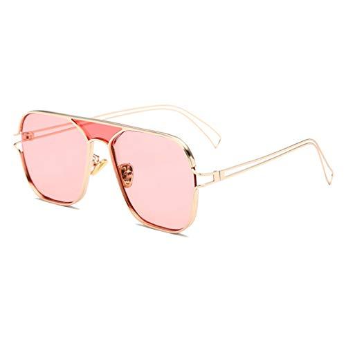JiXuan New UV Sonnenbrillen Trend Sonnenschirm Outdoor Persönlichkeit Aviator Sonnenbrille UV400 C6