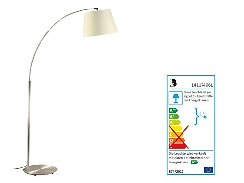 LED-Stehleuchte Lampenschirm Farbe Creme
