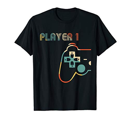 Matching Gamer Couple Player 1 Player 2 Shirt
