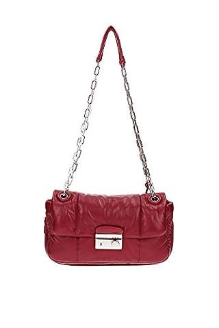 Schultertaschen Prada Damen Leder Rot B5023LCHERRY Rot 8x16x25 cmEU