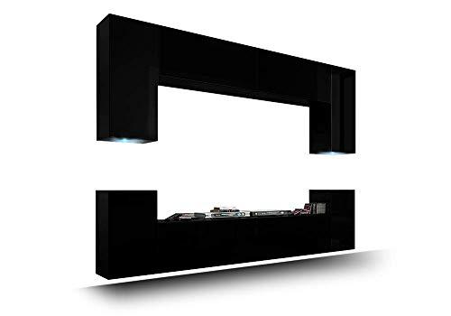HomeDirectLTD FUTURE 1 Moderne Wohnwand, Exklusive Mediamöbel, TV-Schrank, Schrankwand, TV-Element Anbauwand, Neue Garnitur, Große Farbauswahl (RGB