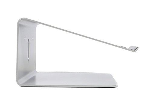 Bramley Power Premium Qualität Aluminium Laptop Ständer für Apple MacBook Pro/Air, Dell, Lenovo, HP, Fujitsu und alle 27,9 cm zu 38,1 cm Laptops (Fixed Height, Space Grey) Aluminium Laptop