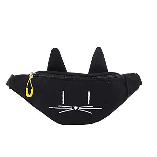 Lonshell Damen Canvas Trachtentaschen Brusttasche Tier Design Clutch Dirndl Sport Bauchtasche Schultertasche Mode Umhängetasche Gürteltasche Hüfttasche Citytasche