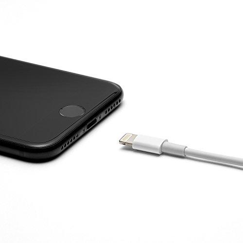 iProtect - Cavo ricarica USB 100 cm / Cavo dati 1,00 m per iPhone 5 5s 5c SE, iPhone 6 6 Plus 6s 6s Plus, iPhone 7 7 Plus, iPhone 8 8 Plus, iPhone X, iPad - rosa Bianco