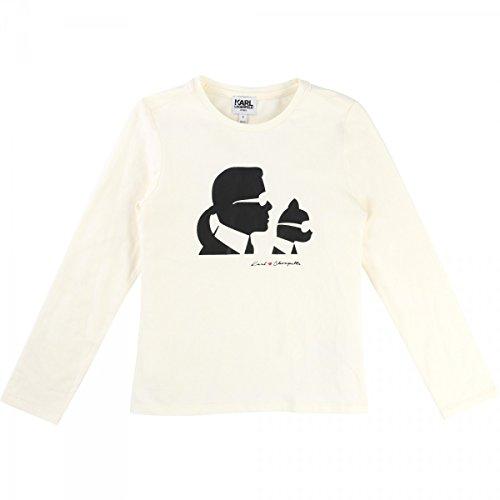 Karl Lagerfeld - T-Shirt Mini Me Manches Longues écru - 6 Ans, Ivoire
