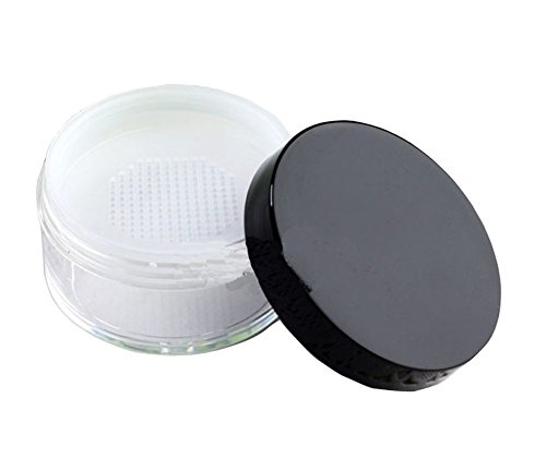 Empty Clear Foundation Make-up Pulver Puff Box Case Container mit Puder Puff Sifter und schwarze Schraube Lippe (20g) -