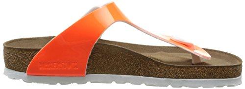 Birkenstock Gizeh Birko-Flor, Tongs femme Orange (Vernis Neon/Orange)