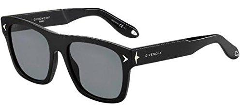 Givenchy gv 7011/s td 807, occhiali da sole unisex-adulto, nero (black/grey), 55