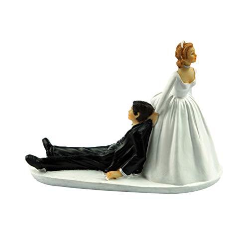 Bomcomi Lustige Braut-Bräutigam-Figürchen Humor Bevorzugungen einzigartiges Geschenk Wedding Cake Toppers Dekoration (Einzigartige Hochzeitstorte Topper)
