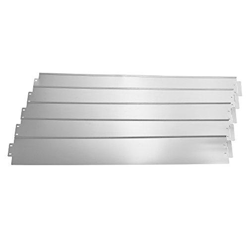 [casa.pro]® Borde limitador de Jardín - Borduras de Jardín - Set de 5 Piezas - Color Plata - Acero galvanizado
