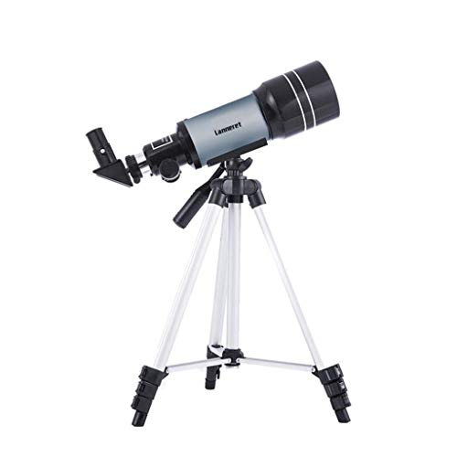 RUIRUI Astronomisches Teleskop, 300 mm Brennweite 70 mm Aperture Refractor Monocular Telescope 150X Objektiv mit Stativ Mondfilter Nachtsicht Stargazing