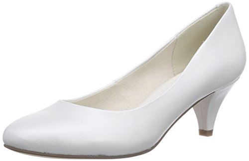 Tamaris 22439, Decolleté chiuse donna, Bianco (Weiß (Champagne 112)), 41