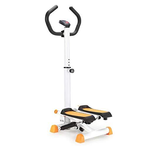 Health Stepper-Maschine mit Lenker und LCD-Monitor , Multifunktionales Stepper-Trainingsgerät für den Haushalt, maximale Belastbarkeit 220 lbs (Color : Yellow)