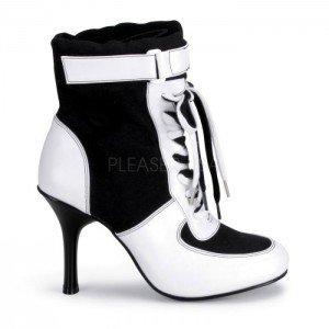 Funtasma High Heel Turnschuh Classic Sneaker REFEREE-125 Sporty Air Schwarz Weiß, Größe F:9 US / (Sneaker Halloween Kostüm)