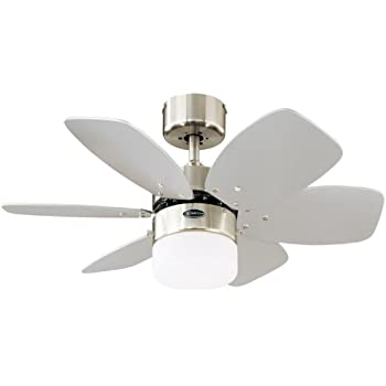 Westinghouse comet ceiling fan white fitting and whitepine blades westinghouse flora royale ceiling fan satin chrome aloadofball Gallery