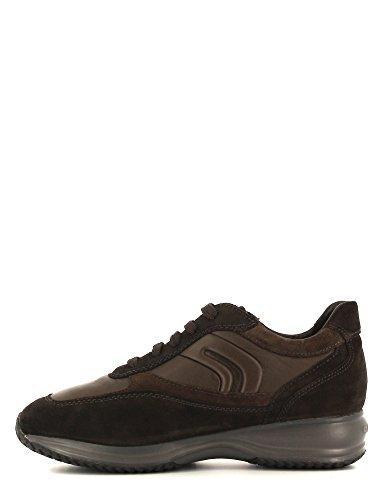 Geox Spaltleder Herren Sneakers U4462A Geox Braun U4462A dqXHXvwx